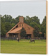 Horse Stables 2 Wood Print