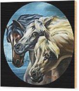 Horse Trio Wood Print