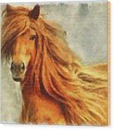 Horse Two Wood Print