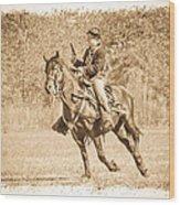 Horseback Soldier Wood Print