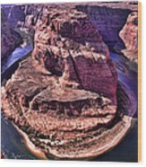 Horsehoe Bend On The Colorado River Wood Print