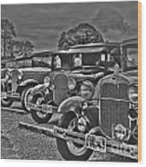 Horseless Carriages Wood Print