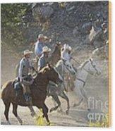 Horsemen Marching In Dust Wood Print