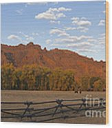 Horses In North Fork Canyon   #4106 Wood Print