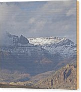 Horses In North Fork Canyon   #4876 Wood Print