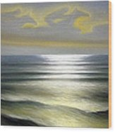 Horses Over Sea Wood Print