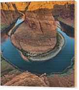 Horseshoe Bend In The Morning Wood Print