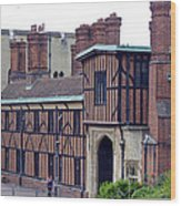 Horseshoe Cloisters Windsor Wood Print