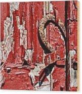 Horseshoe Door Handle Wood Print by Paul Ward