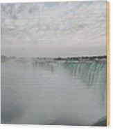 Horseshoe Falls - Winter Wood Print