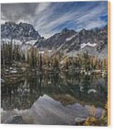 Horseshoe Lake Cloud Dramatic Wood Print