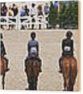 Horseshow Pano Wood Print