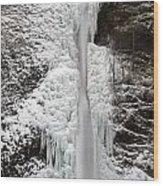 Horsetail Falls Full View Wood Print