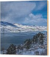 Horsetooth Reservoir Looking North Wood Print