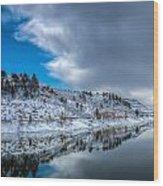 Horsetooth Reservoir Reflection Wood Print by Harry Strharsky