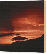 Horsetooth Sunset Wood Print