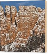 Horsetooth Up Close Wood Print by Paul Berger