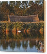 Horsey Mere On The Norfolk Broads On A Still Day In Autumn Wood Print