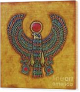 Horus Wood Print by Joseph Sonday