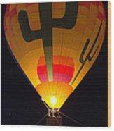 Hot Air Above Arizona Wood Print