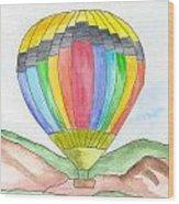 Hot Air Balloon 03 Wood Print