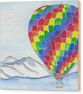 Hot Air Balloon 04 Wood Print