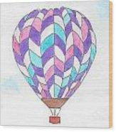 Hot Air Balloon 06 Wood Print