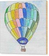 Hot Air Balloon 08 Wood Print