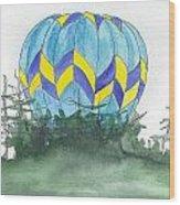 Hot Air Balloon 09 Wood Print