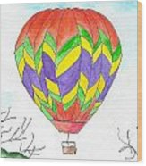 Hot Air Balloon 10 Wood Print