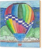 Hot Air Balloon 11 Wood Print