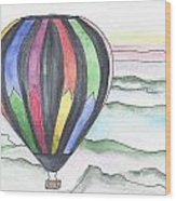 Hot Air Balloon 12 Wood Print