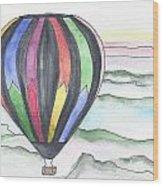 Hot Air Balloon 12 Wood Print
