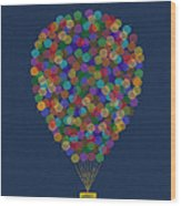 Hot Air Balloon Wood Print by Aged Pixel