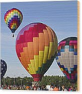 Hot Air Balloon Festival In Decatur Alabama  Wood Print