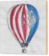 Hot Air Balloon Misc 01 Wood Print