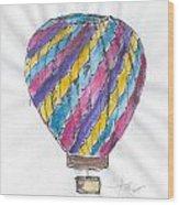 Hot Air Balloon Misc 02 Wood Print