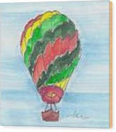 Hot Air Balloon Misc 03 Wood Print