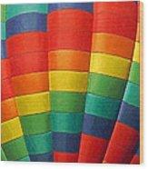 Hot Air Balloon Painterly Wood Print
