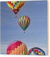 Hot Air Balloon Race Wood Print