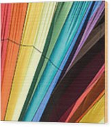 Hot Air Balloon Rainbow Wood Print