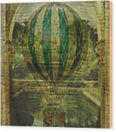 Hot Air Balloon Voyage Wood Print