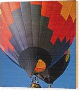 Hot Air Ballooning Wood Print by Edward Fielding