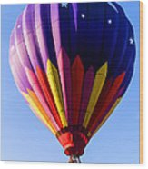 Hot Air Ballooning In Vermont Wood Print