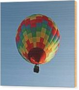 Hot-air Balloons Over Paradise - Immokalee 2014  Number 2  Wood Print