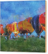 Hot Air Balloons Photo Art 01 Wood Print