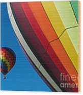 Hot Air Balloons Quechee Vermont Wood Print