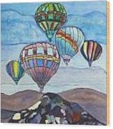 Hot Air Baloons Wood Print