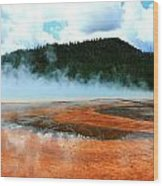 Hot And Steamy Wood Print