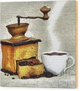 Hot Black Coffee Wood Print